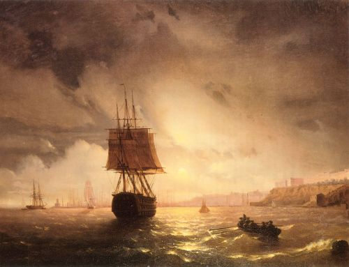 The Harbor At Odessa On The Black Sea, 1852 by Ivan Constantinovich Aivazovsky