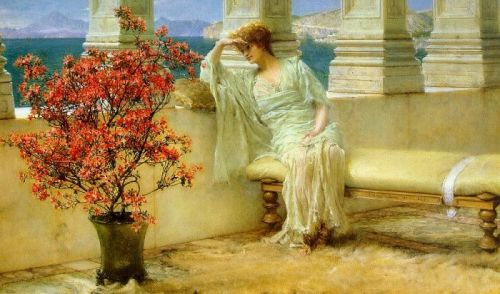 Her Eyes are with Her Thoughts and They are Far Away, 1897 by Lawrence Alma-Tadema