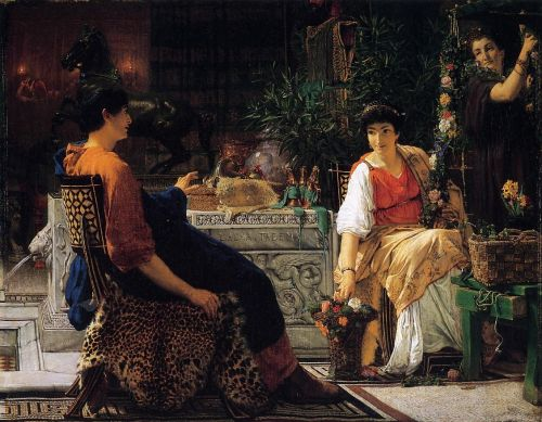 Preparations for the Festivities, 1866 by Lawrence Alma-Tadema