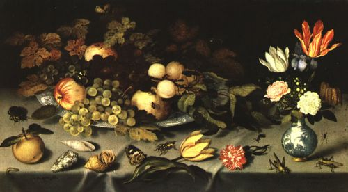 Flowers and Fruit, 1620-1621 by Balthasar van der Ast