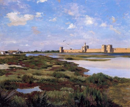 Aigues-Mortes, 1869 by Frédéric Bazille