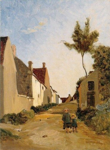 Chailly (Village Street), 1865 by Frédéric Bazille