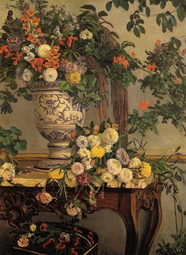 Flowers, 1868 by Frédéric Bazille