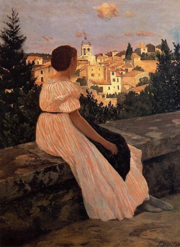 The Pink Dress, 1864 by Frédéric Bazille
