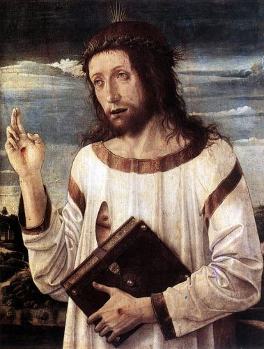 Blessing Christ, 1460 by Giovanni Bellini