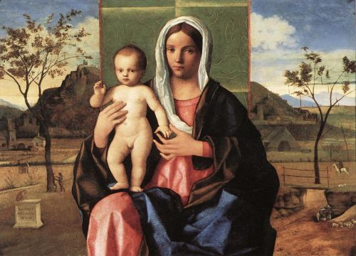 Madonna and Child Blessing, 1510 by Giovanni Bellini