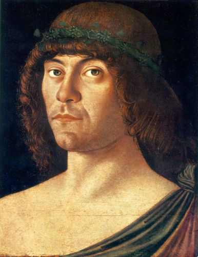 Portrait of a Humanist, 1475-1480 by Giovanni Bellini