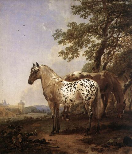 Landscape with Two Horses by Nicolaes Berchem