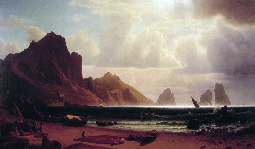 The Marina Piccola, Capri, 1859 by Albert Bierstadt