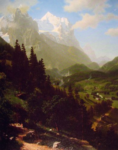 The Wetterhorn, 1857 by Albert Bierstadt