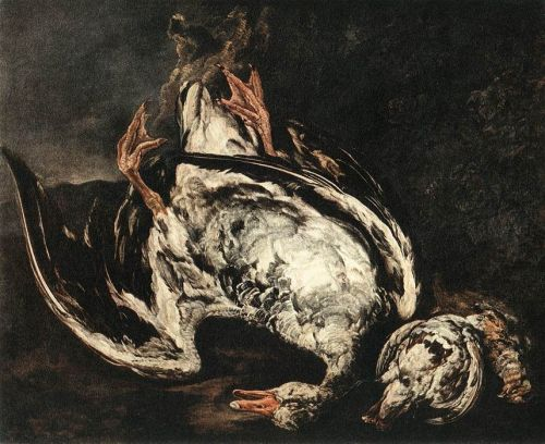 Still-Life with Dead Wild-Duck by Pieter Boel
