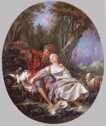 Shepherd and Shepherdess Reposing, 1761 by François Boucher