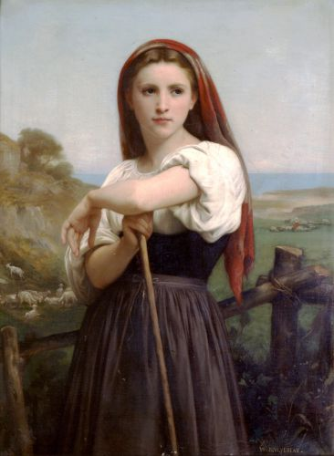 Jeune Bergere by William-Adolphe Bouguereau