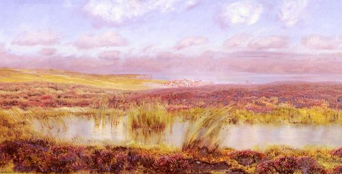 A View Of Whitby From The Moors by John Brett
