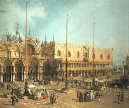 Piazza San Marco - Looking Southeast by Giovanni Antonio Canaletto