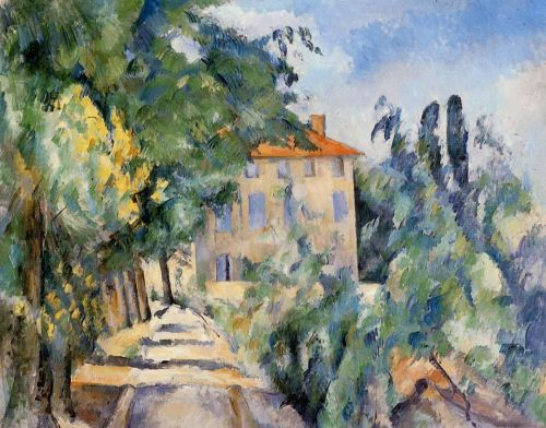 House with Red Roof, 1887-1890 by Paul Cézanne