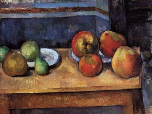 Still Life: Apples and Pears, 1891-1892 by Paul Cézanne