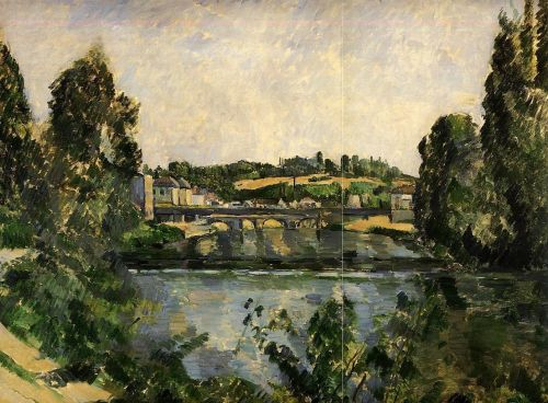 The Bridge and Waterfall at Pontoise, 1881 by Paul Cézanne