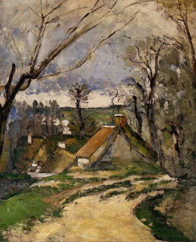 The Cottages of Auvers, 1872-1873 by Paul Cézanne