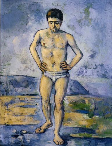 The Large Bather, 1885 by Paul Cézanne