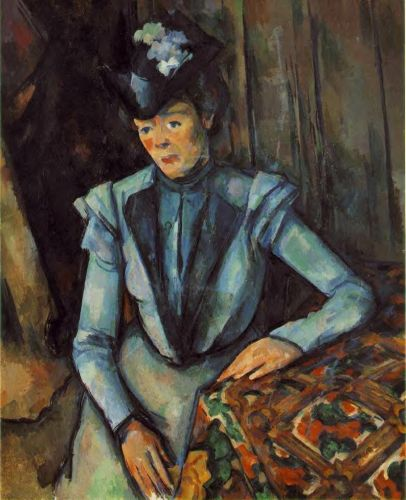 Woman in Blue, 1900-1902 by Paul Cézanne