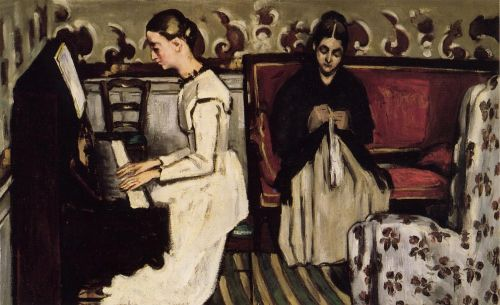 Young Girl at the Piano: Overture to Tannhauser, 1869 by Paul Cézanne