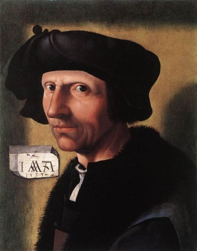 Self-Portrait by Jacob Cornelisz van Oostsanen