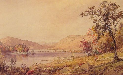 Greenwood Lake, New Jersey 1 by Jasper Francis Cropsey