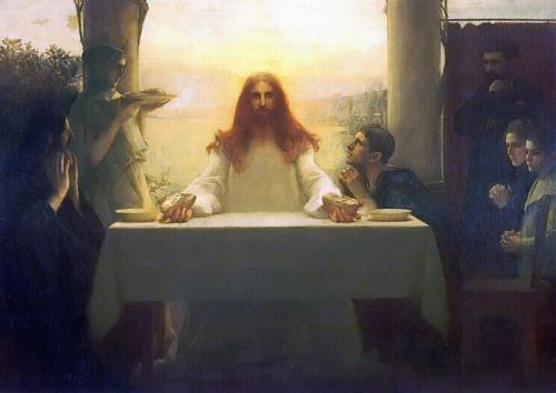 Christ and the Disciples at Emmaus by Pascal Adolphe Dagnan-Bouveret