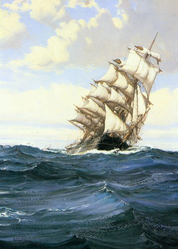 A Cloudy Day by Montague Dawson