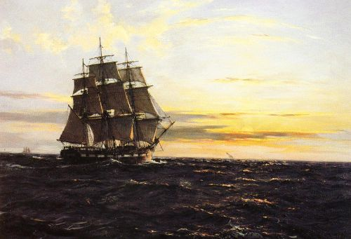 Into The Westerly Sun by Montague Dawson