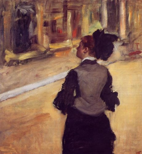 A Visit to the Museum, 1879-1885 by Edgar Degas