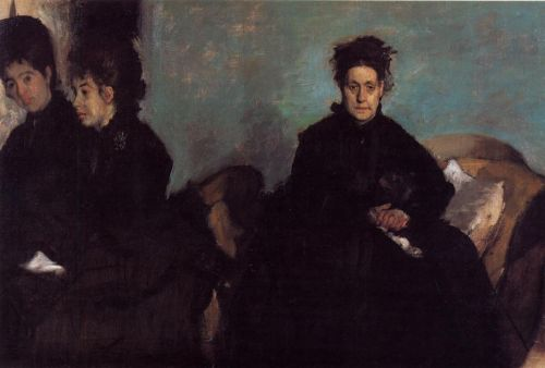 The Duchess di Montajesi with Her Daughters by Edgar Degas