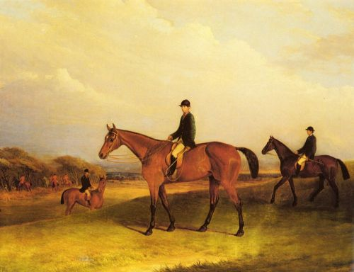 A Jockey On A Chestnut Hunter by John Ferneley