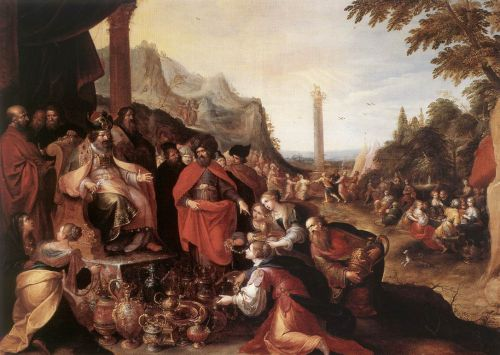 Worship of the Golden Calf by Frans II Francken
