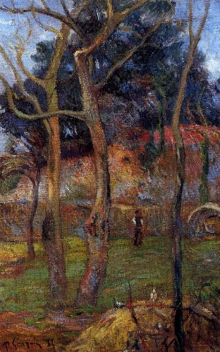Bare Trees, 1885 by Paul Gauguin