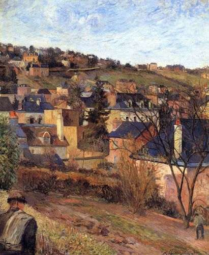 Blue Roofs, Rouen, 1884 by Paul Gauguin
