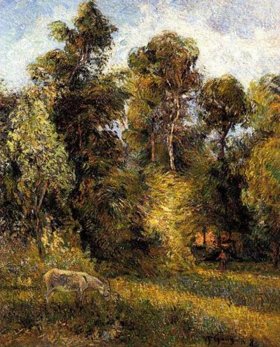 Forest Edge, 1885 by Paul Gauguin