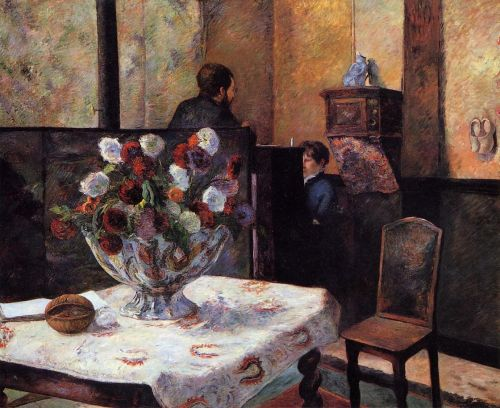 Interior of the Painter's House, rue Carcel, 1881 by Paul Gauguin
