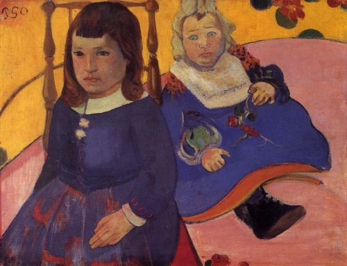 Paul and Jean Schuffenecker, 1889 by Paul Gauguin