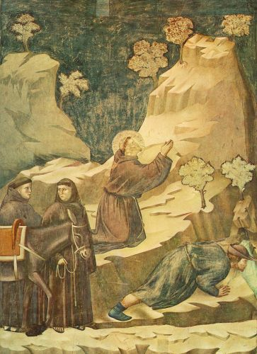 Legend of St Francis: 14. Miracle of the Spring by Giotto