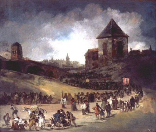 Procession in Valencia by Francisco Goya
