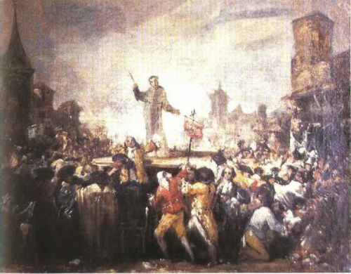 The Esquilache Riots by Francisco Goya