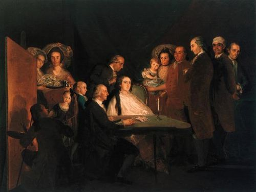 The Family of Baby Don Luis by Francisco Goya