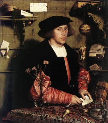 Portrait of the Merchant Georg Gisze by Hans Il Giovane Holbein