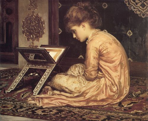 At a Reading Desk by Frederick Leighton