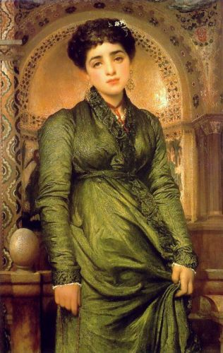 Girl in Green by Frederick Leighton