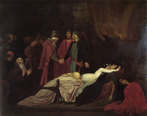 The Reconciliation of the Montagues and Capulets over the De by Frederick Leighton
