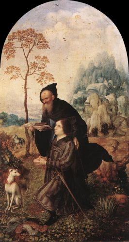St Anthony with a Donor by Jan Mabuse