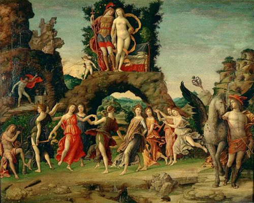 Parnassus by Andrea Mantegna